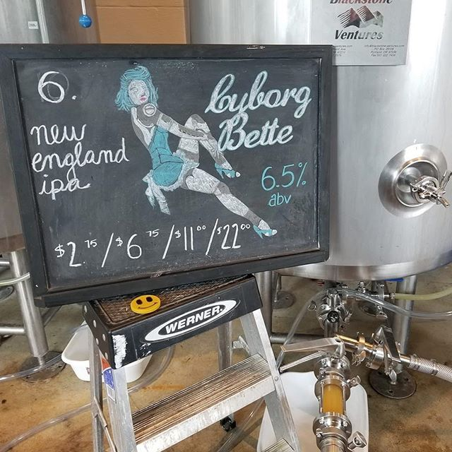 🍺BEER RE-RELEASE!!🍺 She's baaaaaaack! Cyborg Bette is back on tap 7️⃣! This hazy New England IPA is light and juicy brewed w/ El Dorado, Citra, and Idaho 7 hops.  Were open 12-7 today! Pop on in and try it. 🤘 📸&🍺: @scottmckernon . . . . . . #beerwell #drinklocal #downtownfrederick #frederickbeer #frederickmd #rockwellbrewery #neipa #hazyipa #sundayfunday