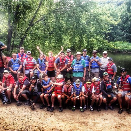 Boy Scout and Girl Scout canoe trips on the Allegheny River