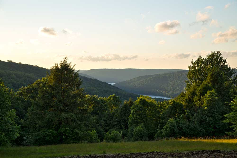Bliss Hill overlook - North Country Trail - Allegheny National Forest