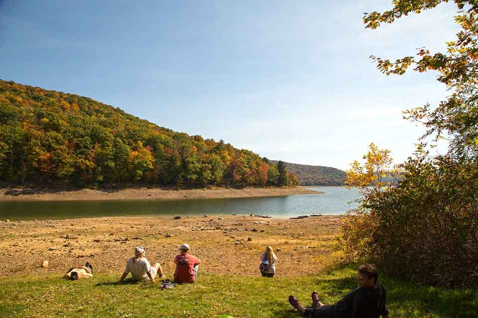 Morrison Trail campground in the Allegheny National Forest