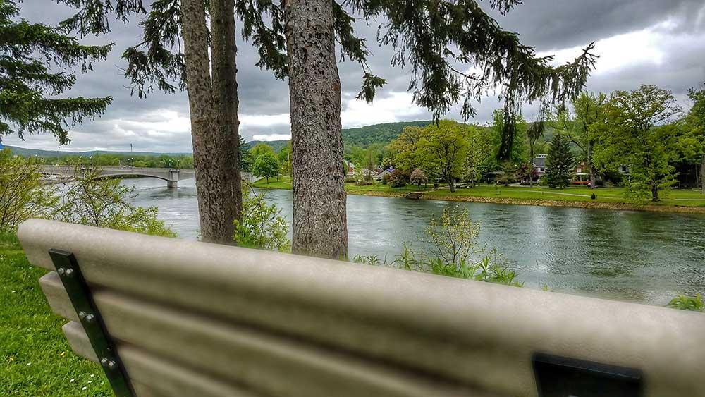 Riverwalk Overlook Bench