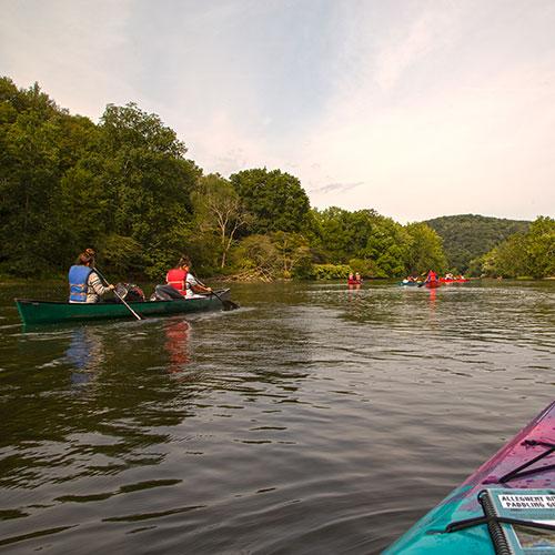 Allegheny River canoe trip rental