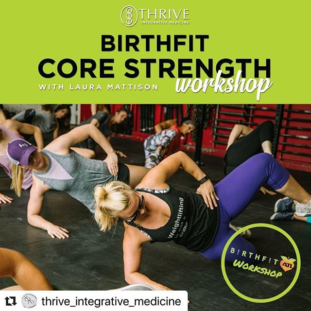 WHAT THEY SAID!! Can't wait to spend a Saturday morning with y'all talking all things CORE! Link in bio to register! #Repost @thrive_integrative_medicine with @make_repost ・・・ Need a strategy for improving your lifts or to stop peeing your pants? 🤷‍⠀ ⁣⠀ Perfect! You're not alone! 👋⁣⠀ ⁣⠀ Join us at this month's 1 hour @birthfit_atlanta Workshop here in the Thrive classroom on Saturday, April 13th, at 10am!!! P.s. this is the last chance to attend one of Laura's incredible workshops this spring at Thrive!!⁣⠀ ⁣⠀ Still not convinced? Believe it or not, this workshop is for everyone - pregnant mama and curious dudes alike. BIRTHFIT's teachings and exercises helps anyone with a core.  EveryBODY can benefit from learning about core function through our BIRTHFIT Functional Progressions. ⁣⠀ ⁣⠀ See you in just 2 short weeks - Registration link in bio. See y'all soon!✌✔💪
