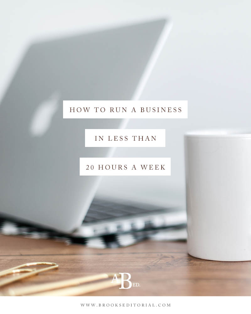 Think you're too busy to run a business? Think again! I'm showing you how I run my business in less than 20 hours a week with a toddler and newborn at home with me.