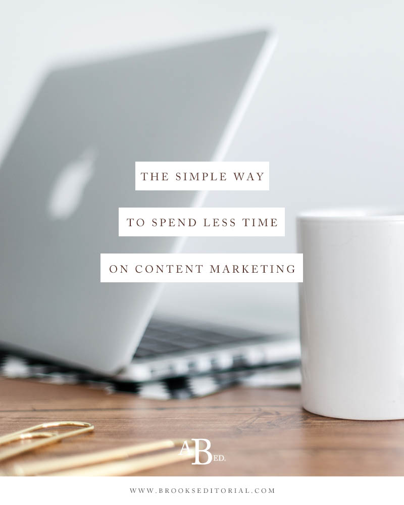 Creative entrepreneurs don't have time to do all the things when it comes to content marketing. Use this simple (free!) tip to cut your content marketing time in half.
