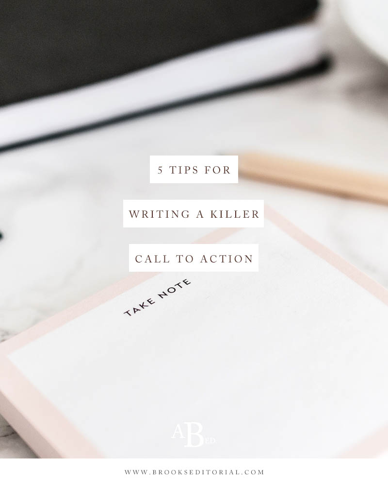 5 Keys to Creating a Killer Call to Action // If you're a blogger who's ever felt sleazy writing a CTA, these 5 tips are for you!