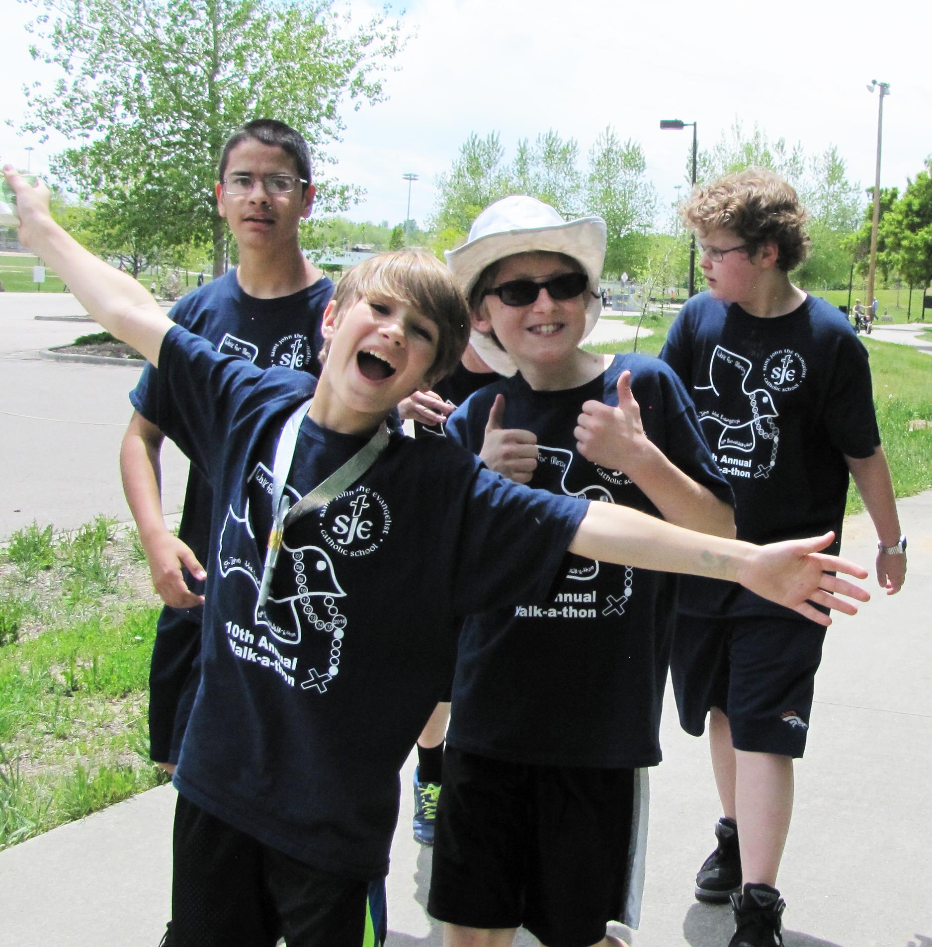 Christian school walk-a-thon 1