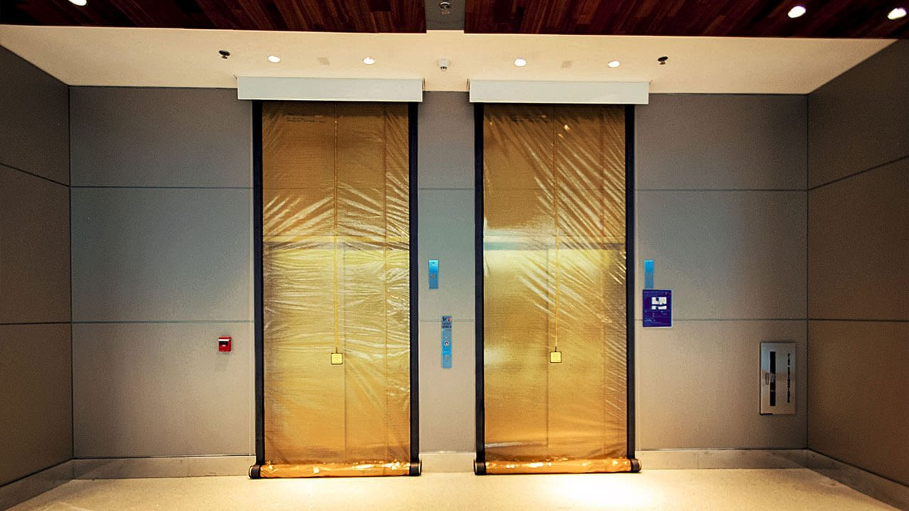 m200/m400 - In combination with the fire-rated doors used in nearly all elevators, M200 and M400 elevator smoke curtains provide comprehensive and code-compliant smoke and draft opening protection. These units are easy to install in elevator openings and integrate seamlessly with existing fire protection systems to quickly bring a structure up to code. Product model selection is determined by size of hoistway opening.