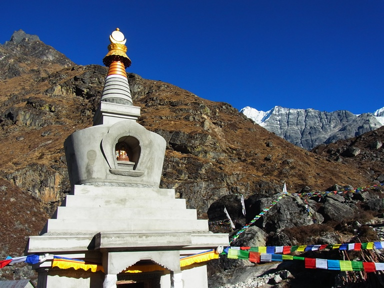 New Stupa at Kyanjin Gompa which will be rededicated in May 2017