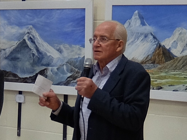Doug opening the Wetheral Art Exhibition in 2016