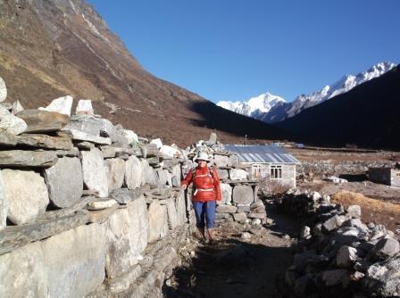 Jill in the Langtang Valley in November 2016