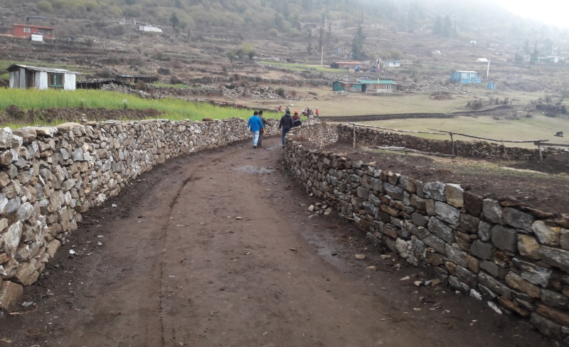 Completed road at Melamchi