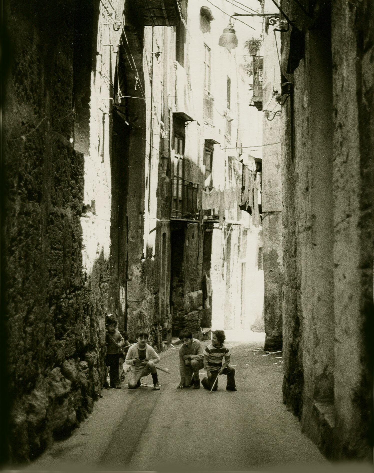 Loren Ellis  Boys Playing War in Sicily Itlay 10 by 8 1974.jpg