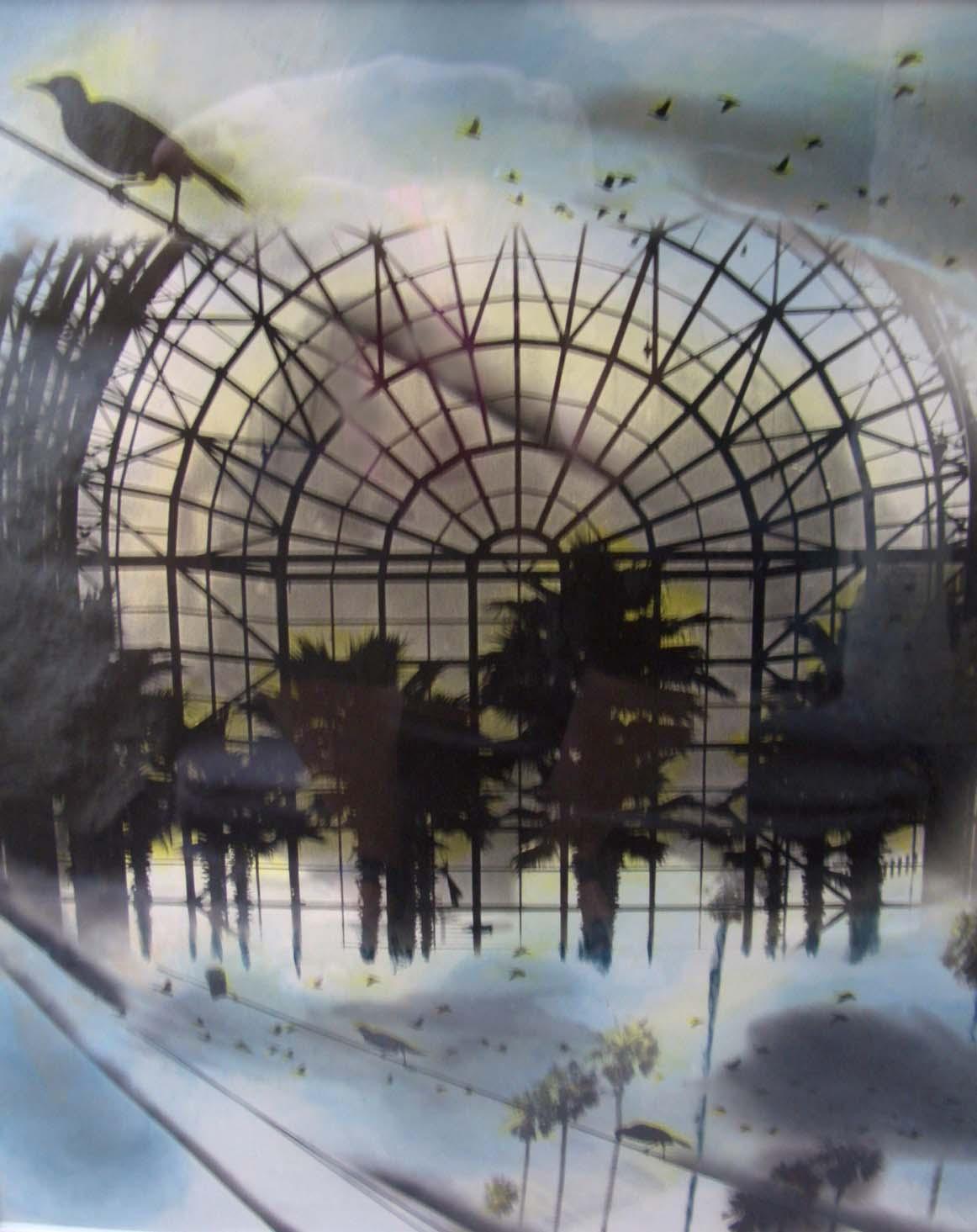 4. Loren Ellis Winter Garden WTC Birds   20x16 inch 2008.jpg