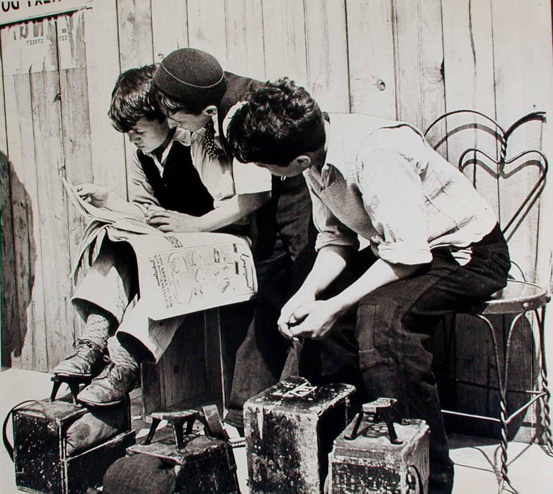 Boys Lower East Side Shoe Shine 1930's
