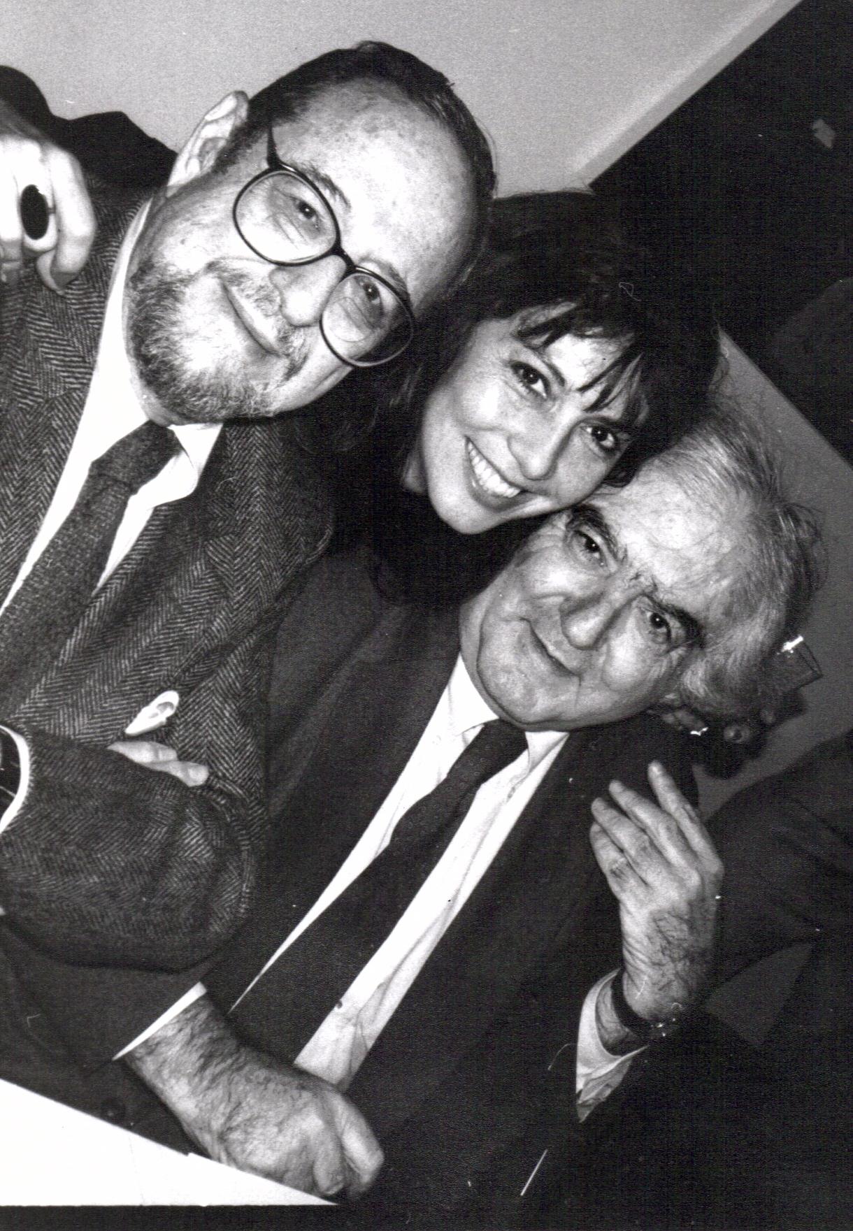 Arnold Newman Loren Ellis Cornell Capa at National Arts Club Photo Admin. club luncheon cerca 1995