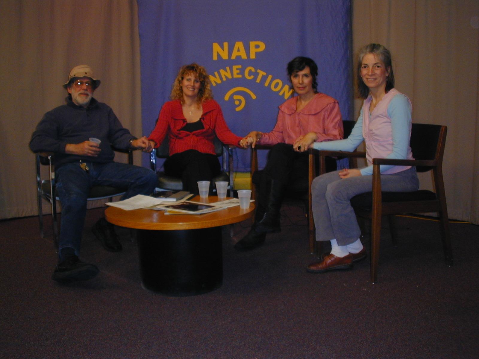 NAP New Arts Program Kutztown PA jan 05 holding hands.JPG