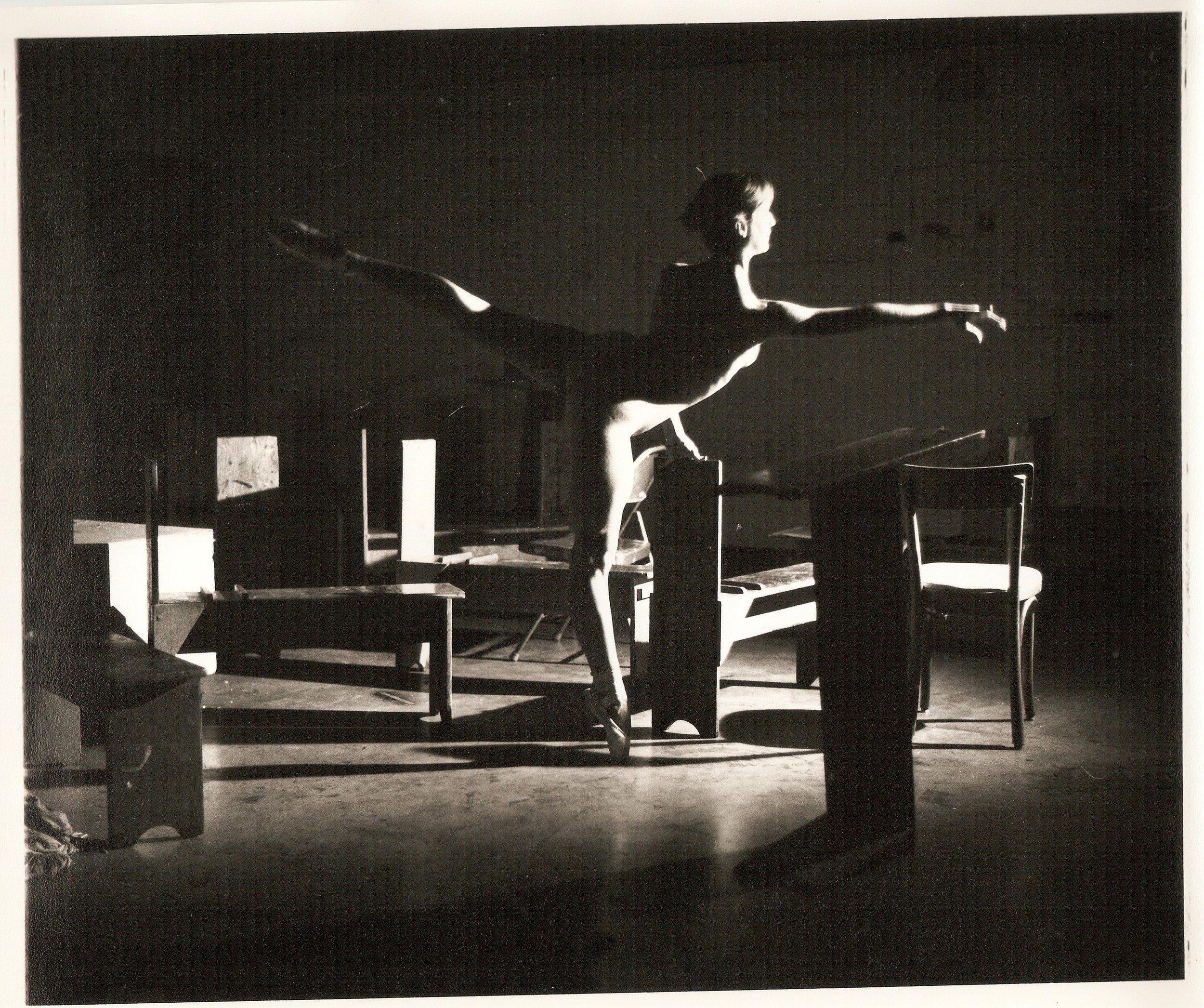 Loren Ellis Ballet  in Fla. Painting Studio 1 of 3 8x10 1979.jpg