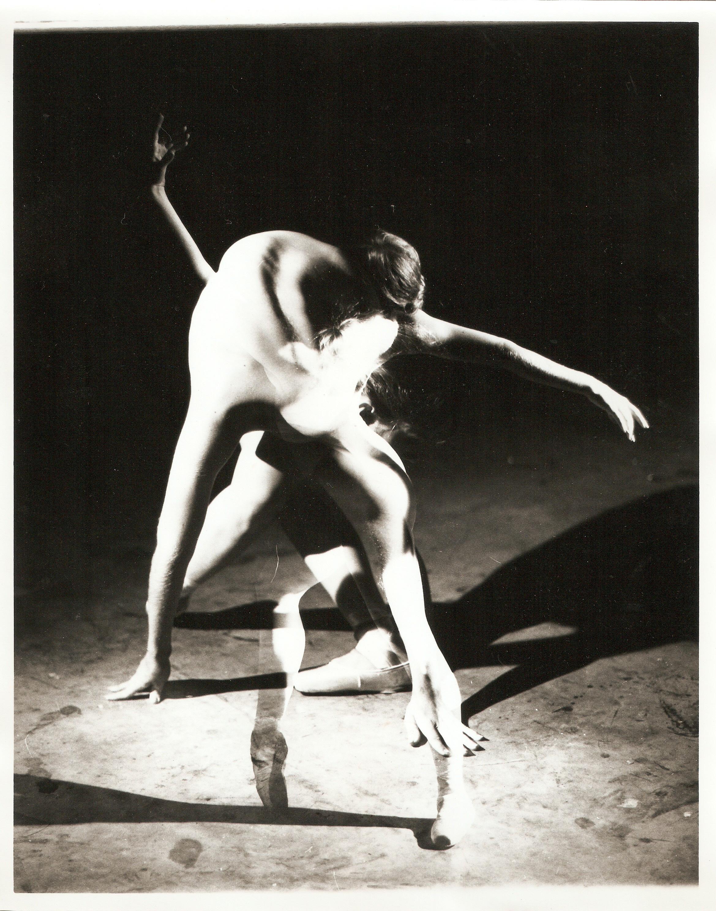 Loren Ellis Ballet model in Fla. Painting Studio 3 of 3 8x10 1979.jpg