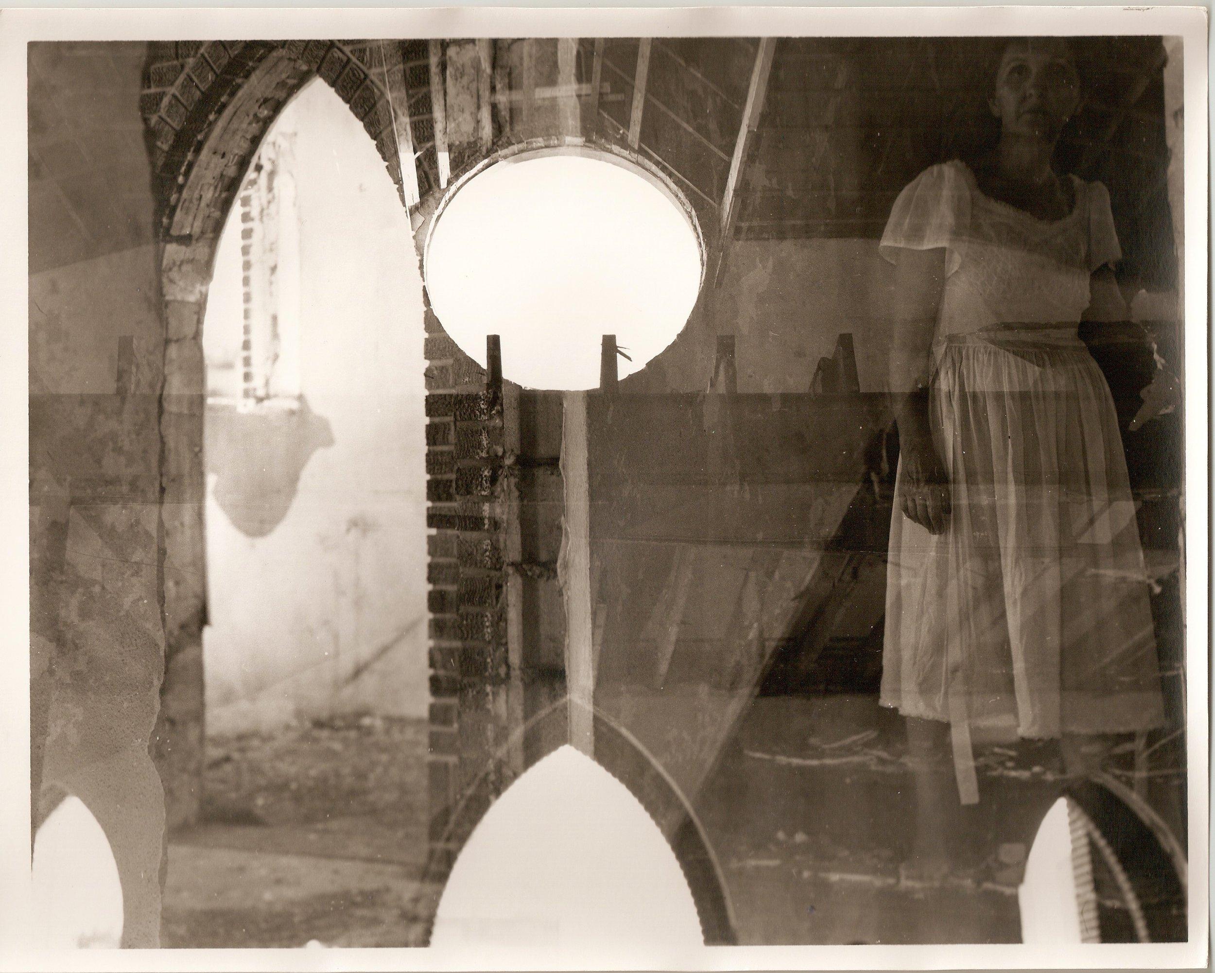 Loren Ellis Mother ghost  in Florida Church 1 of 5 8 by 10 1981.jpg