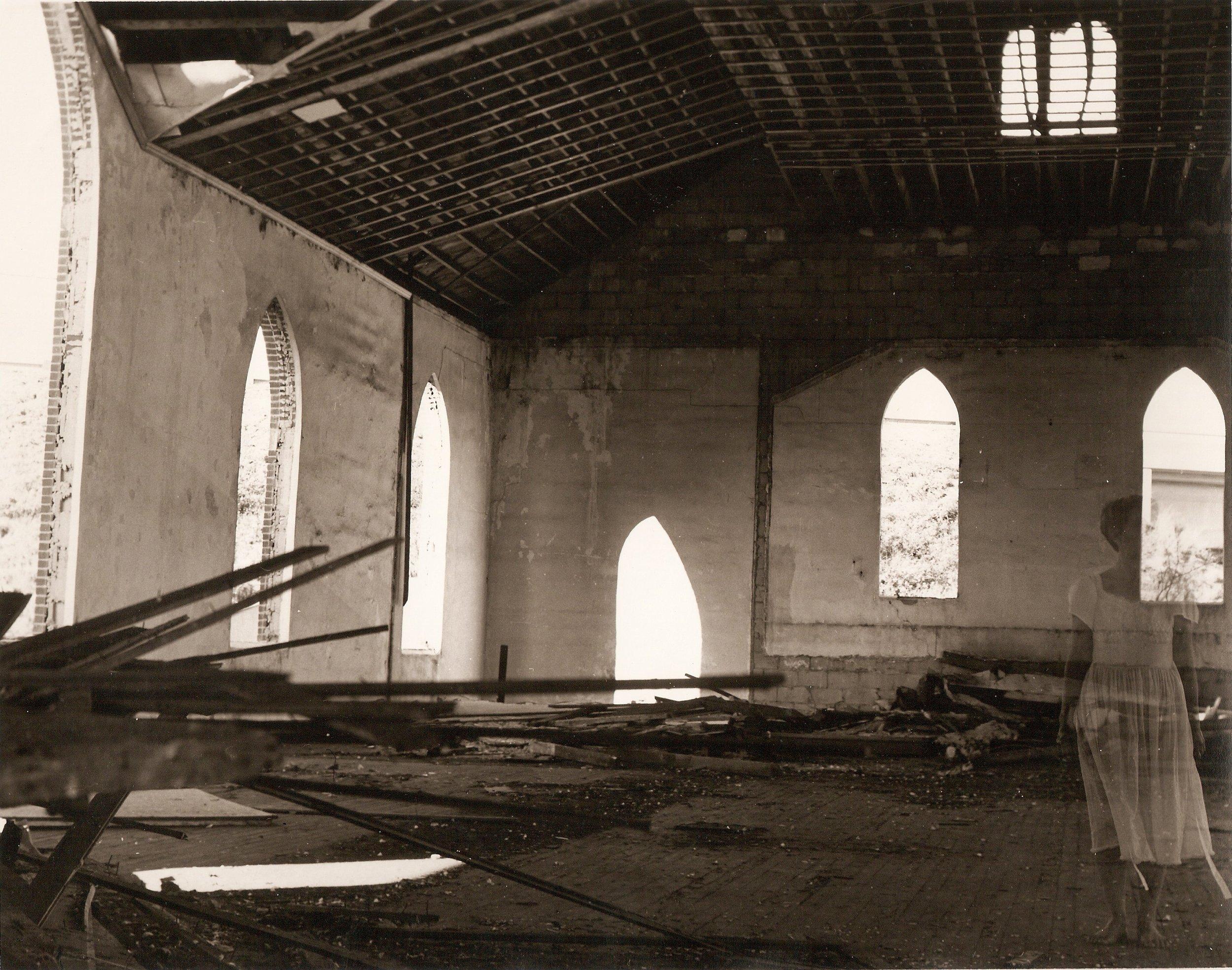 Loren Ellis Mother ghost  in Florida Church 3 of 5 8 by 10 1981.jpg