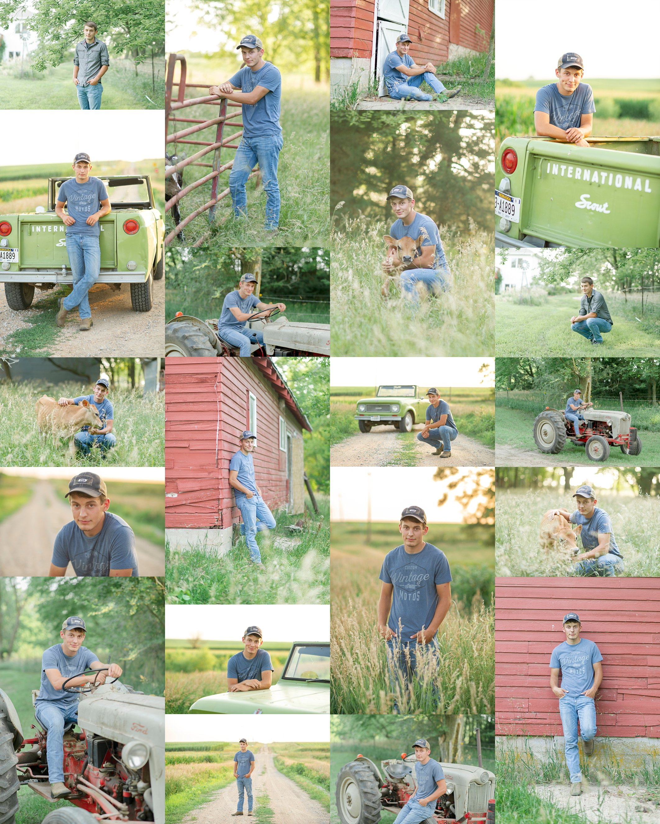 southeast-nebraska-photographer-dirt-road-photography-kelsey-nerud-homolka-farm-photos-senior-boy-portraits-high-school-barn-tractor-grass-cow-scout-truck-dirt-gravel-road-farm-tall-grass-clatonia-wilber-nebraska-sunset-boots-senior-portraits-photos-pictures-baby-calves