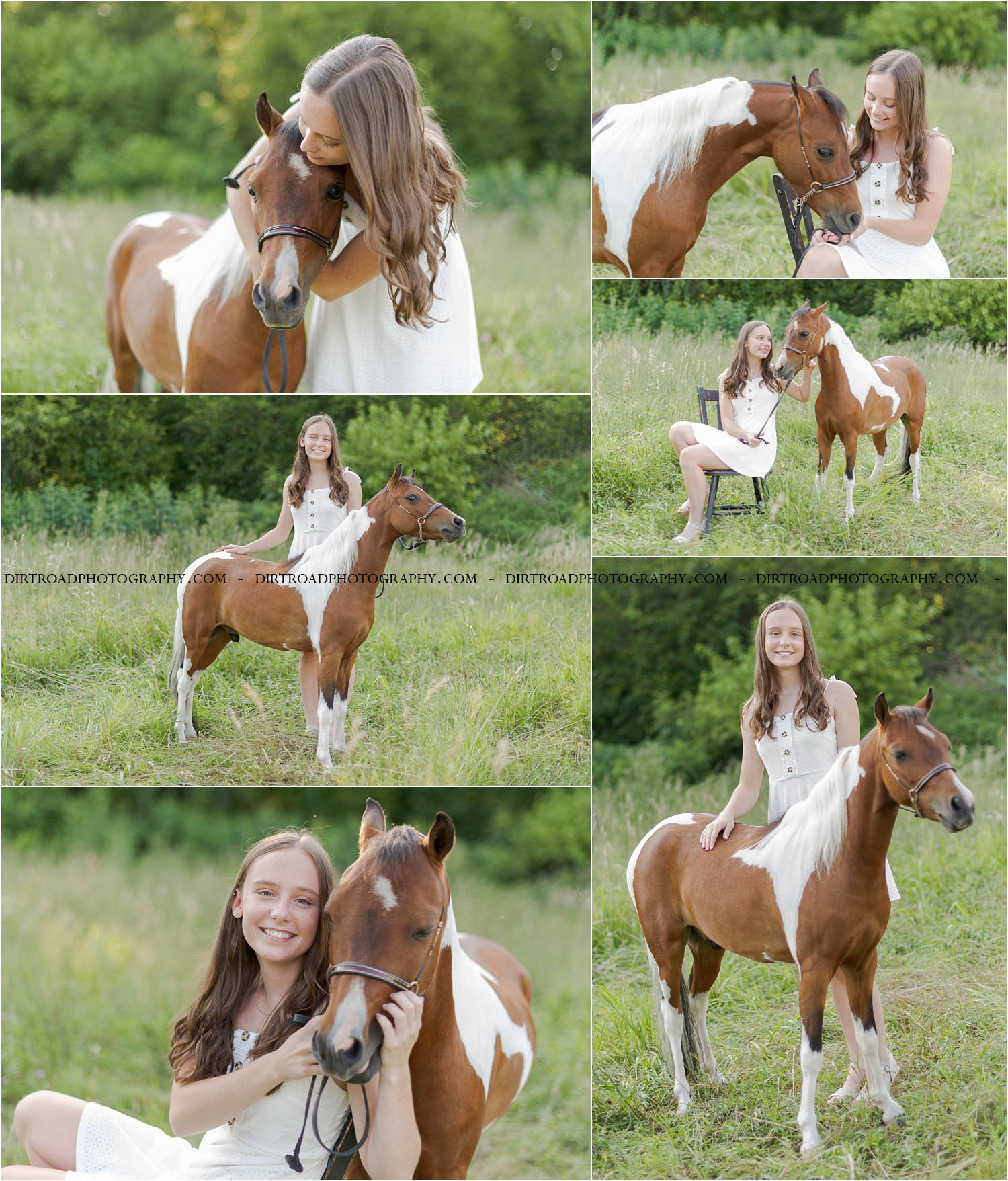 images of high school girl senior photos named shelby timmerman of wilber nebraska who went to wilber-clatonia high school in wilber nebraska and is part of the class of 2020. photos were taken near wilber nebraska in saline county at farms and on dirt roads. photo includes tall glass buildings, horses, show horses, white dresses, summer, sunsets, and dirt roads. shelby is also wearing maroon tank top with blue denim jeans as well as striped blue romper and sandals. girl is dressed in white lace dress with long brown curly hair and styled make-up. dirt road surrounded by trees and dust at sunset. tall grass with a sunset behind as well. photographer is kelsey homolka nerud of wilber nebraska who specializes in high school senior photography and senior pictures.