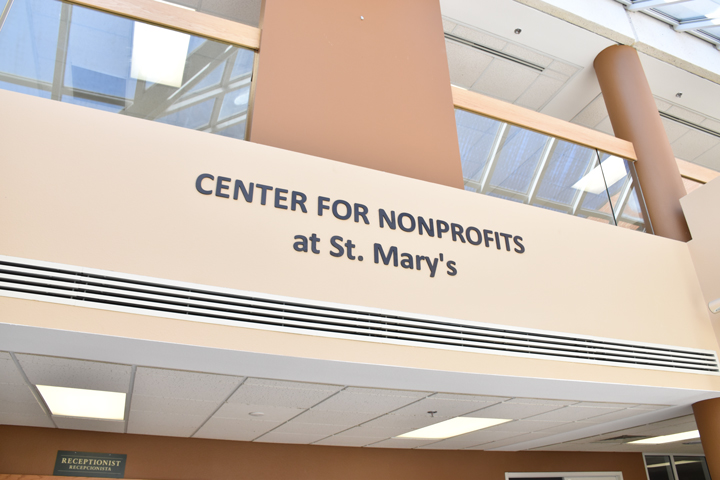 center for nonprofits at St. Mary's in Rogers sign, cfn st. mary's, nwark, northwest arkansas, ark, springdale