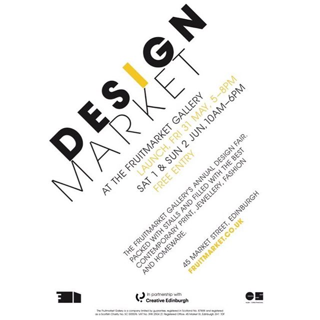 DESIGN MARKET!!! We will be selling at the @fruitmarketgallery Design Market this weekend Saturday and Sunday🌞This will be our last market with Studio Five and we will be selling everything for exceptional prices! Please come along and see us as we would love the chance to say goodbye to you in person. There is also a huge number of creatives and designers also attending. It's too good not to miss 💘💘 • • • • • #studiofive #studiofiveuk #designmarket #fruitmarketgallery #edinburgh #edinburghmarket #design #fashion #jewellery #shoplocal #slowfashion #edinburghbloggers