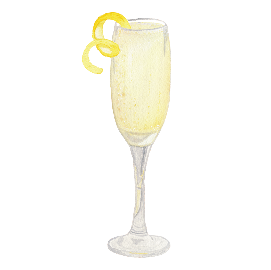 Champagne with a lemon twist