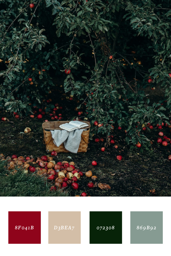 Apple orchard color palette