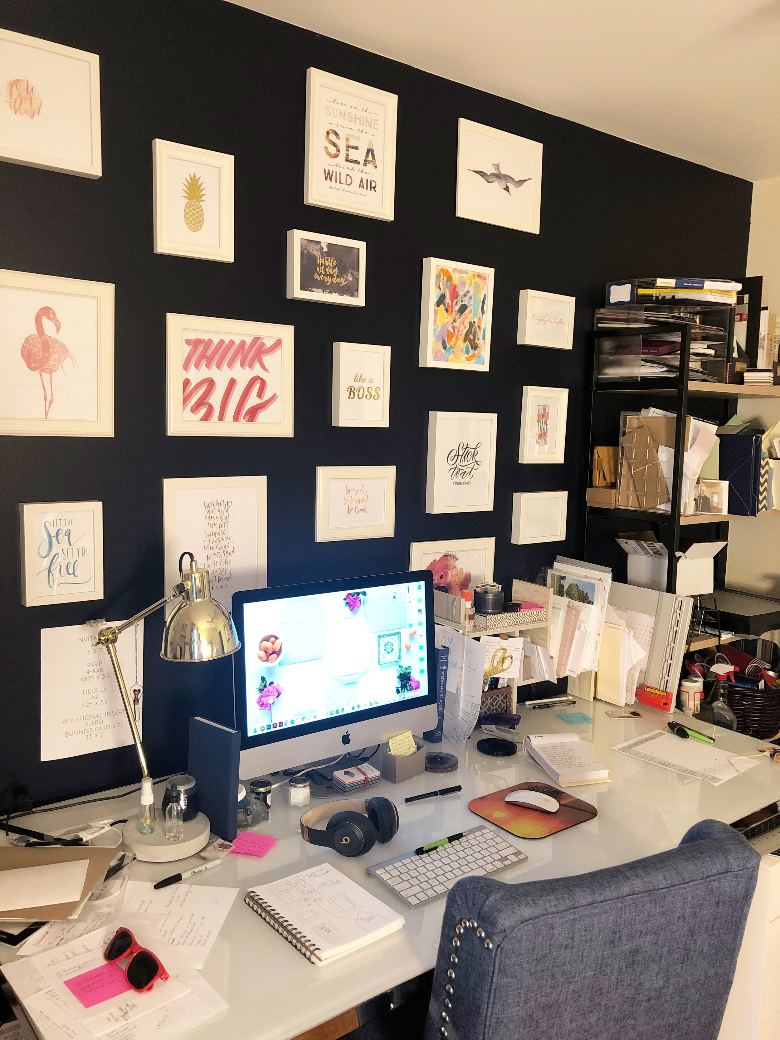 A glimpse into my messy (but productive) office!