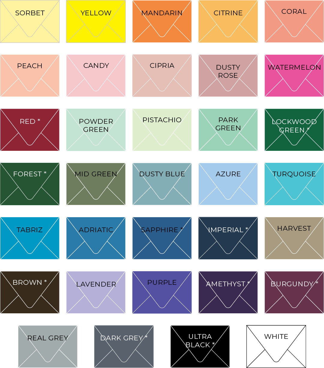 ocean & coral creative envelope color choices