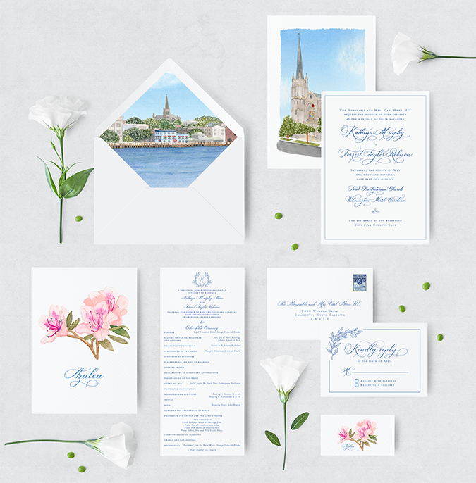 Custom - Wilmington, NC wedding invitation