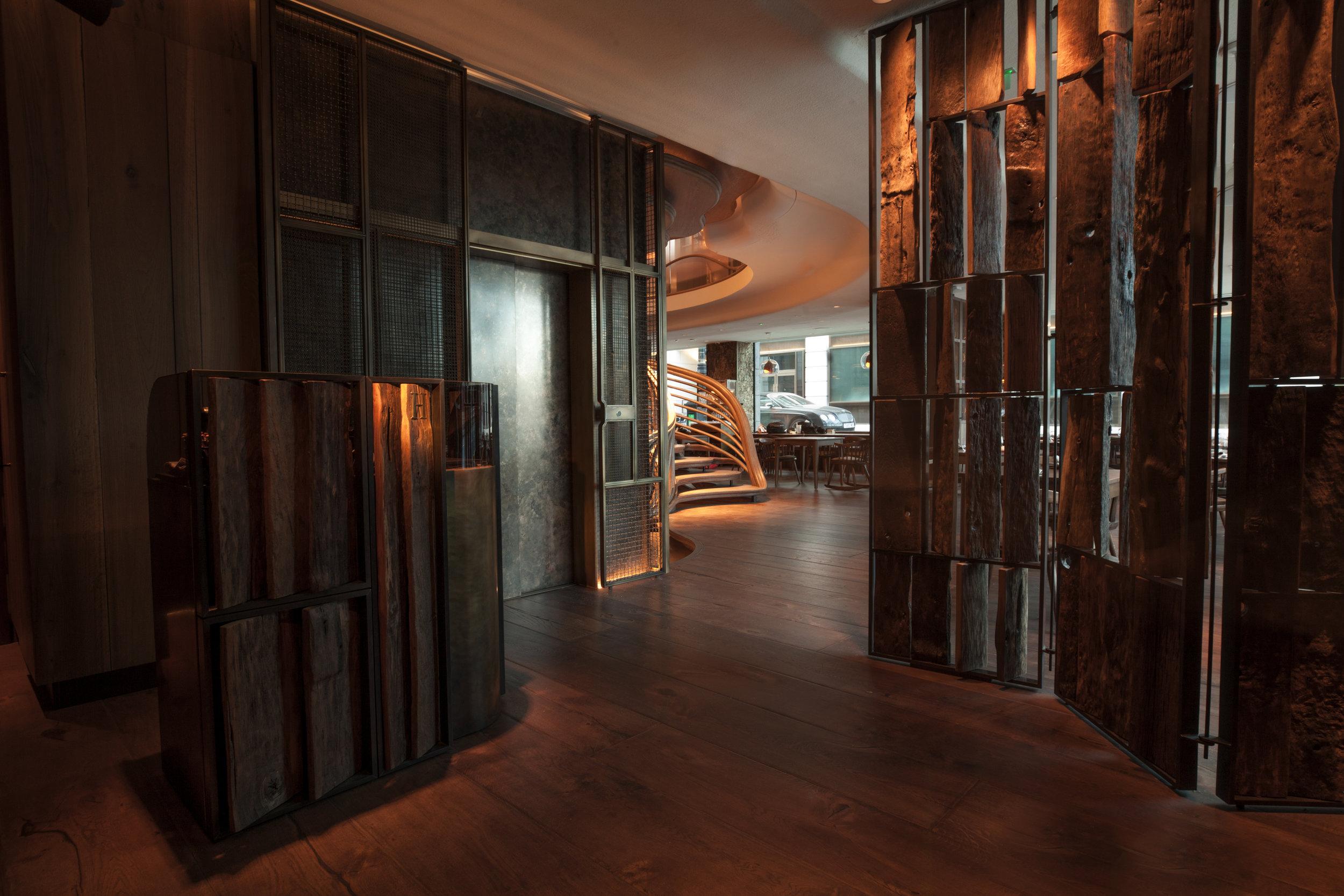 Hide Ground Restaurant, London. Interior design by These White Walls Studio.