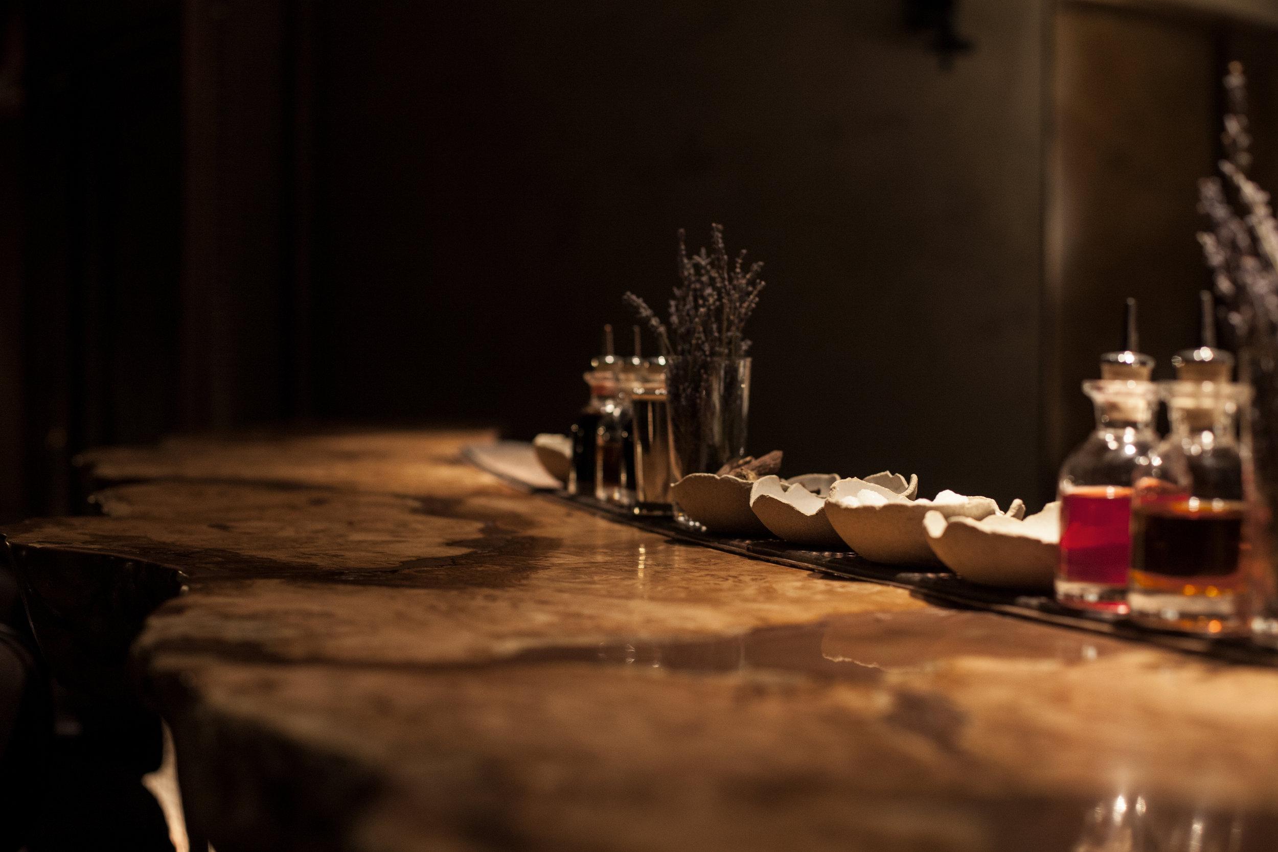 Hide Bar Below Bar Top Rustic Oak These White Walls Studio Interior Design Hide Restaurant London.jpg