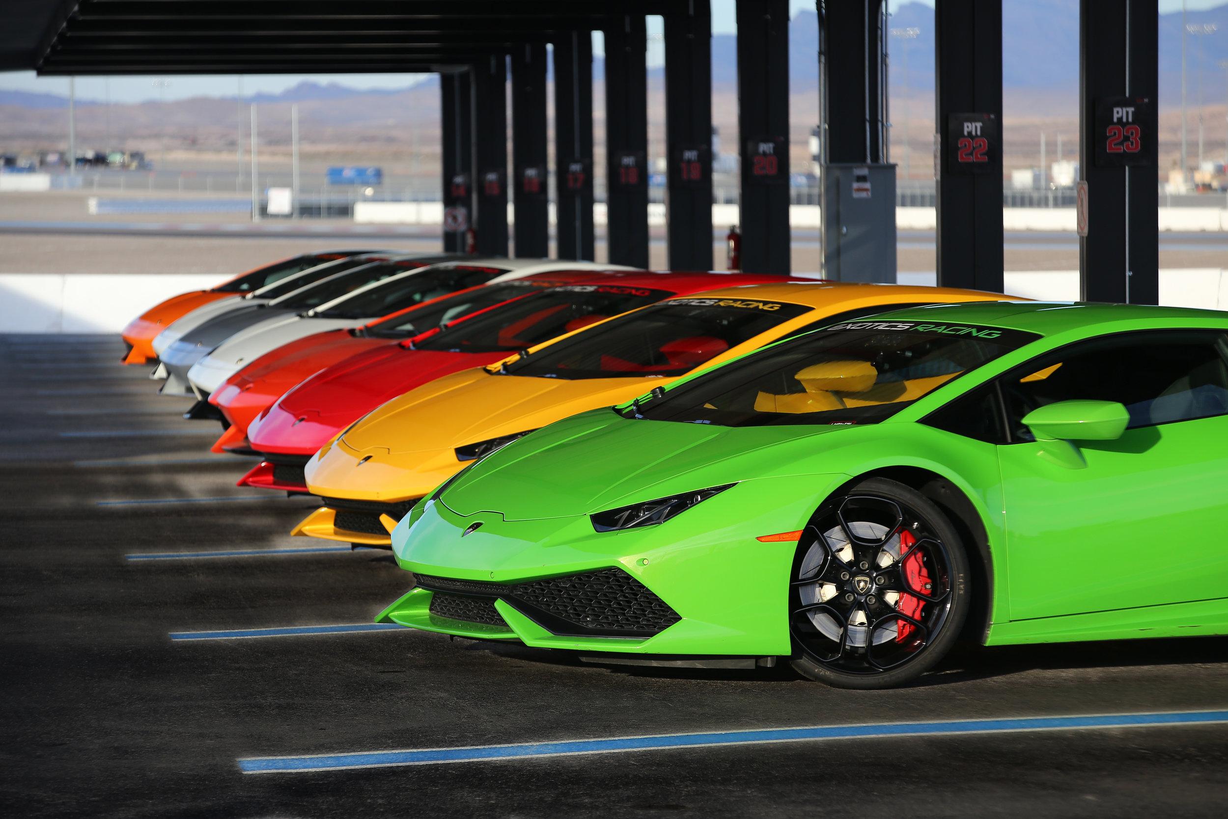 Exotics Racing's Fleet of Lamborghini is waiting for you.jpg