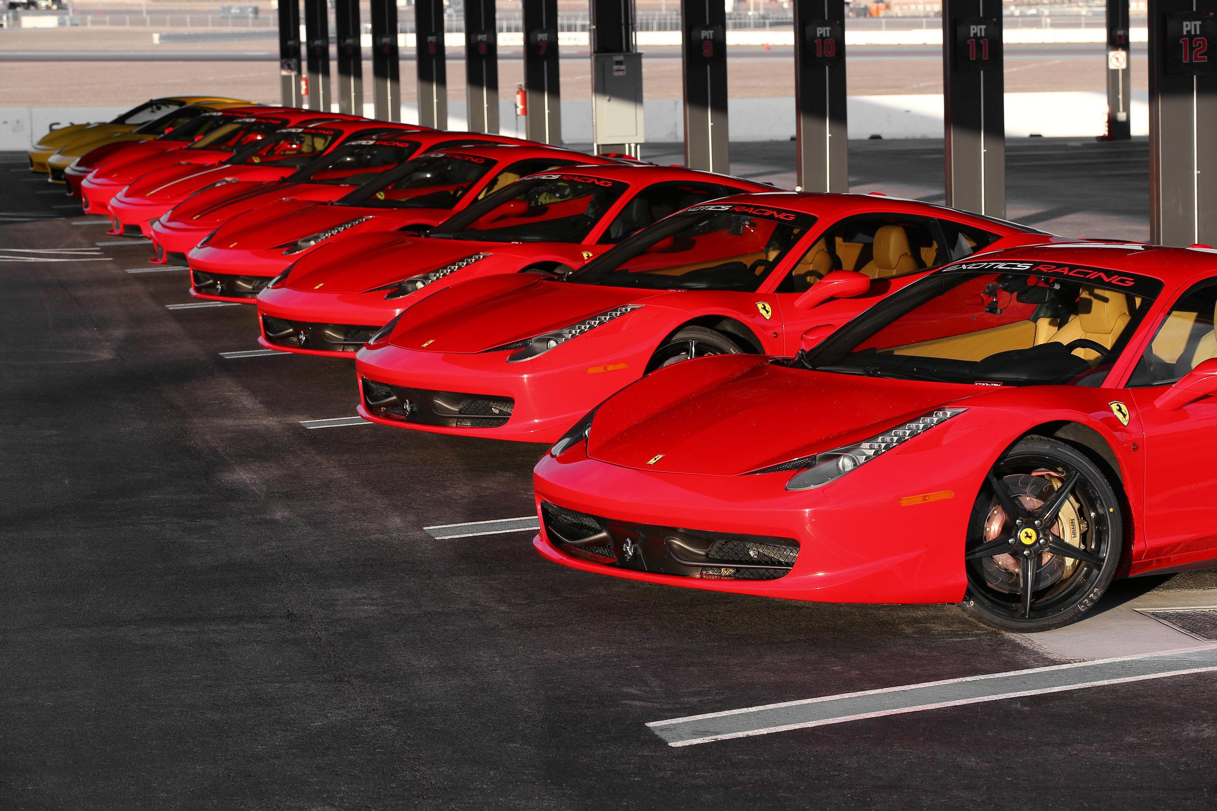 Exotics Racing's Fleet of Ferraris.jpg