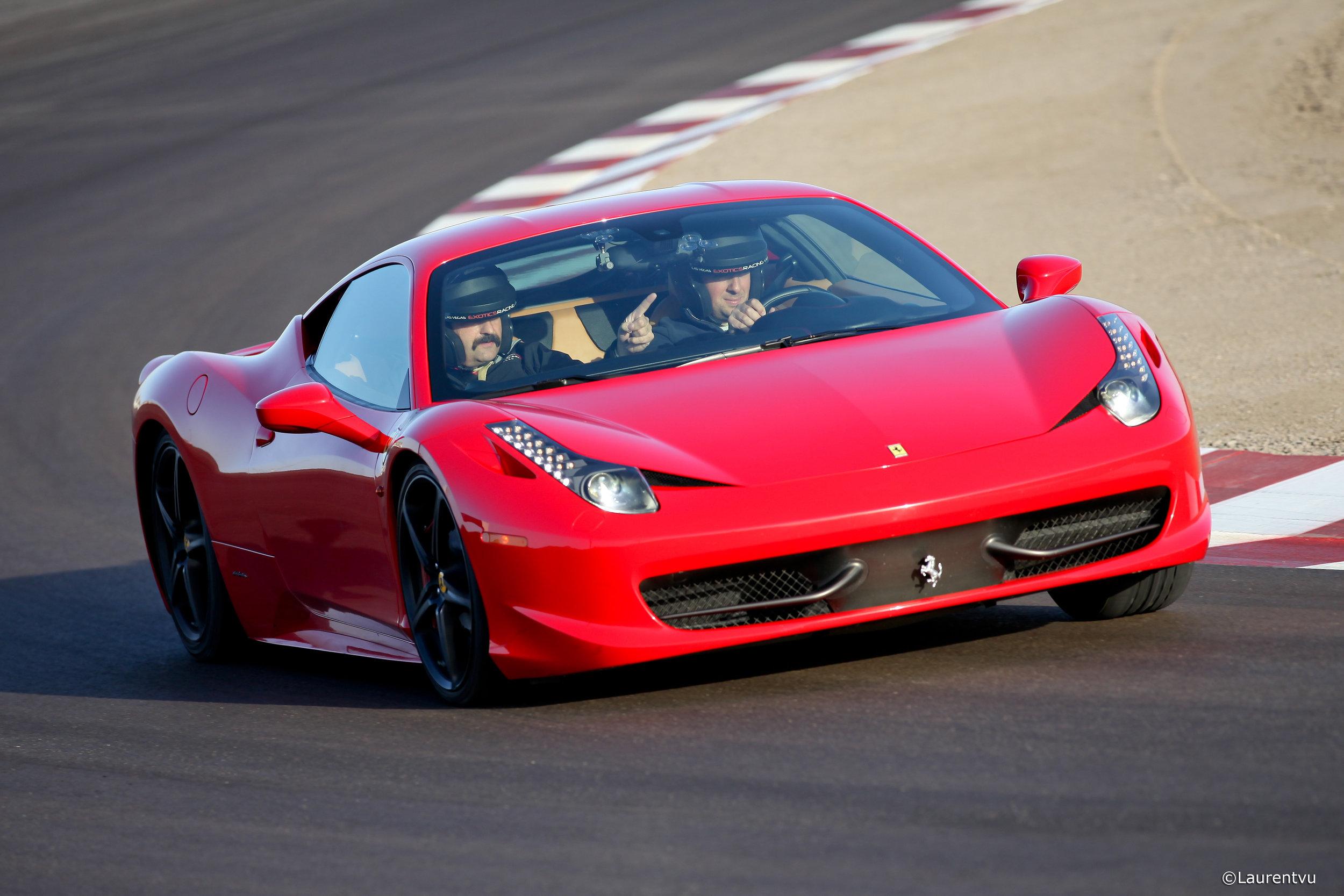 Ferrari 458 Italia on the las vegas racetrack.jpg