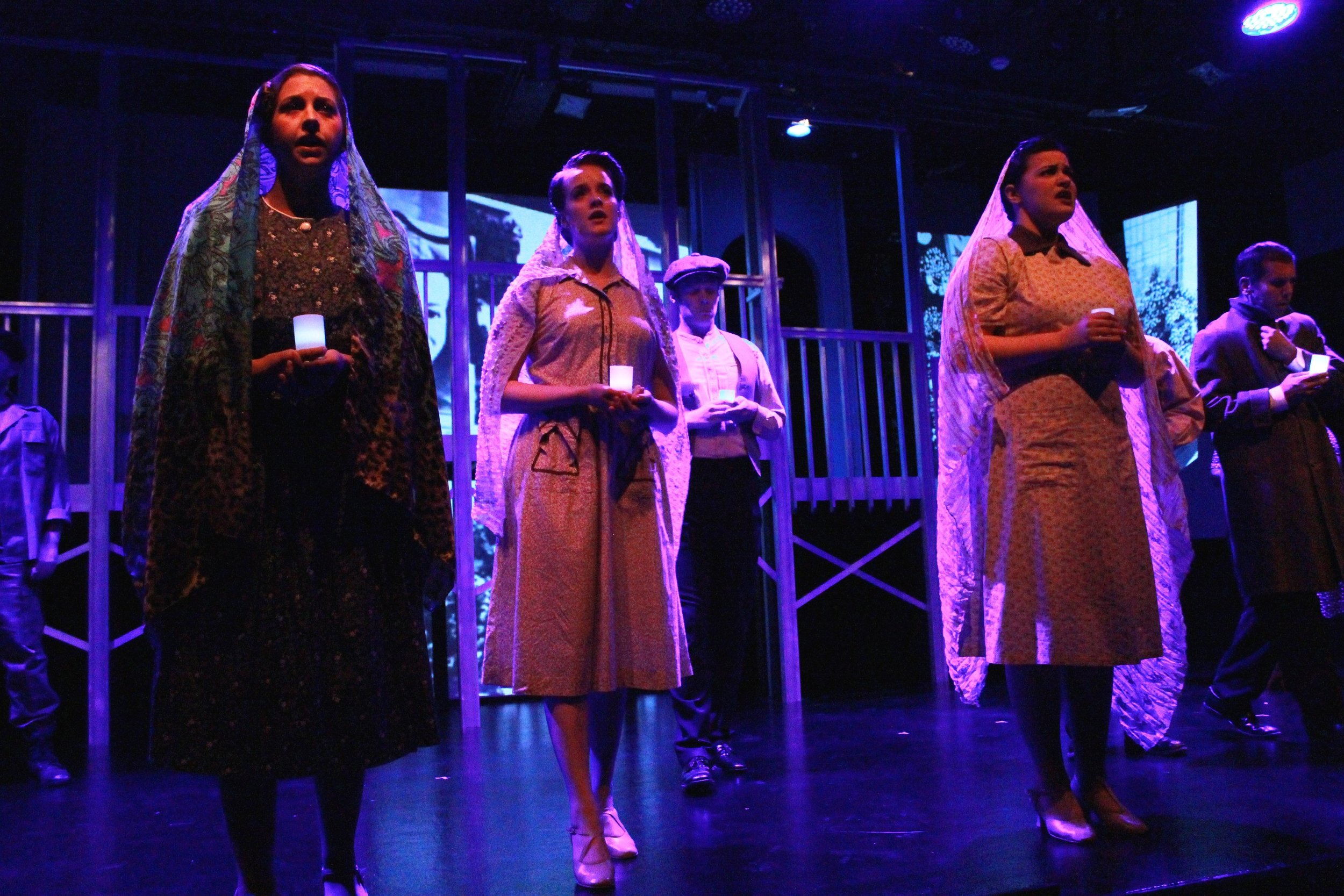 "(Middle) Ensemble in ""Evita"""