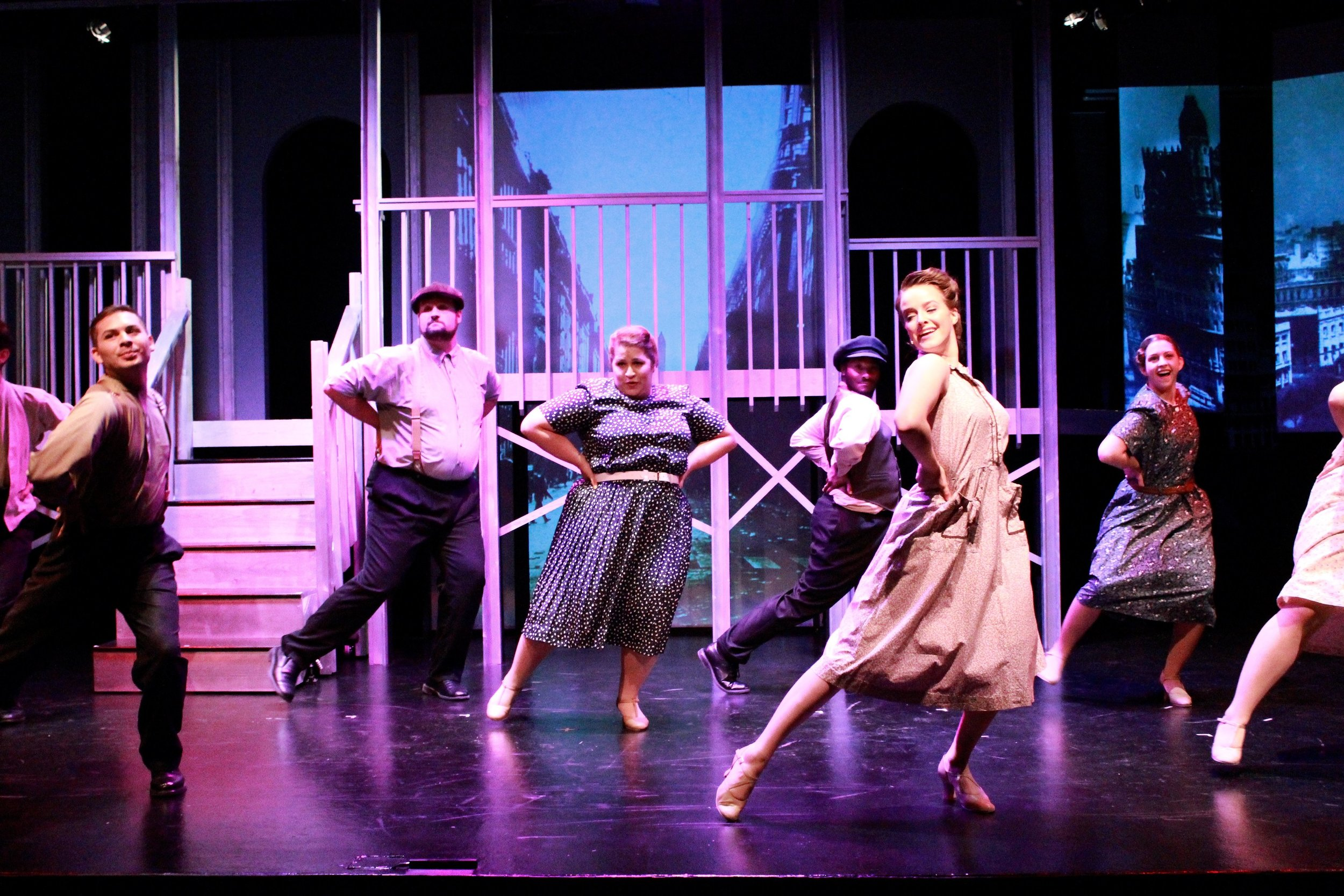 "(Right) Ensemble in ""Evita"""