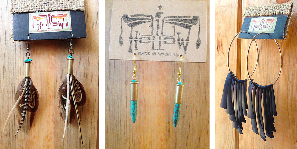Jewelry - From the edgy to the rustic, Big Hollow's repurposed earrings are perfect for the true Wyoming mountain girl.