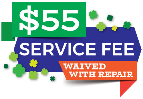 Air Conditioning service calls for just $55! Service call fee waived with completion of any repairs!