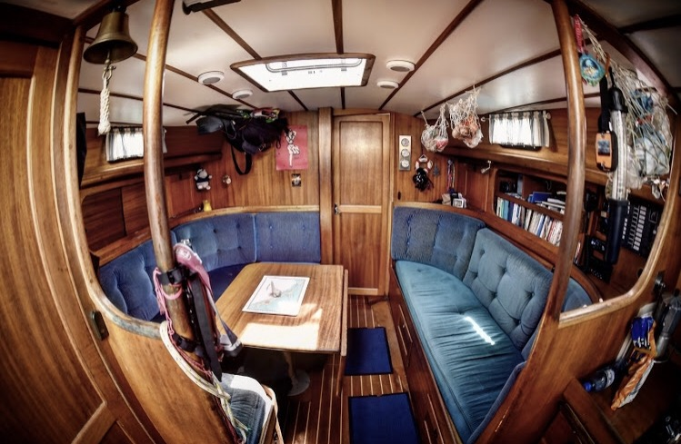 A glance inside the boat.