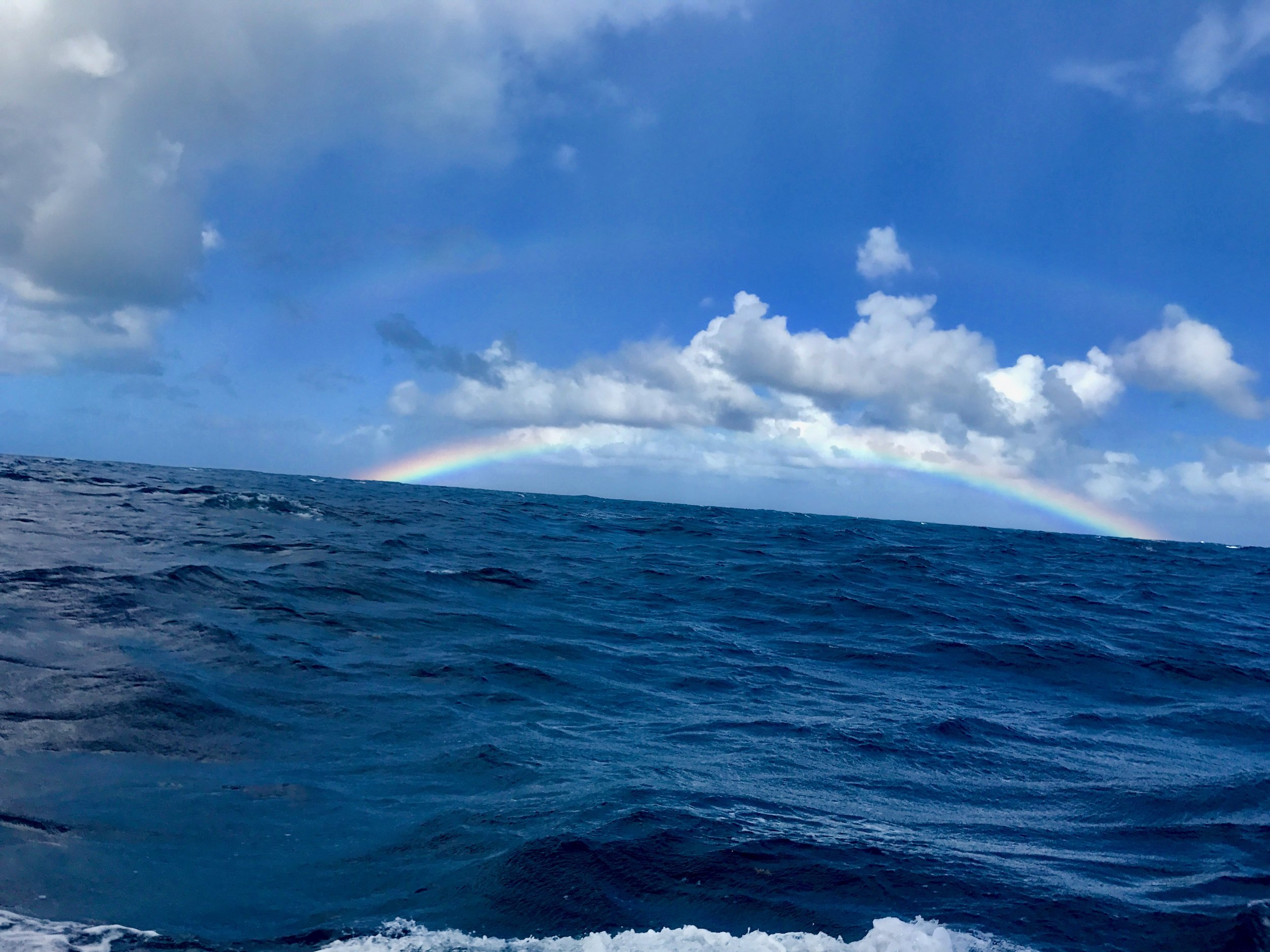 Rainbow, spotted while sailing