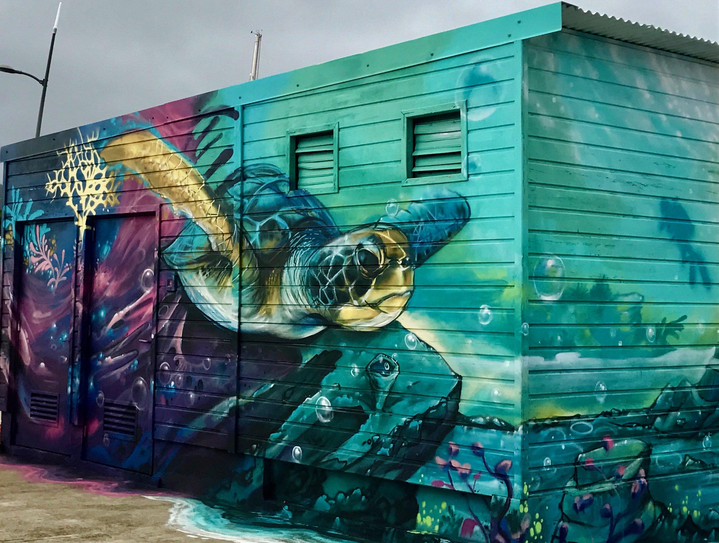 Turtle mural, Le Marin, same artist?