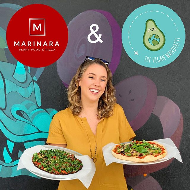 Can't keep this veggie girl away from her pizza 🌱��� Head to the link in my bio for my full review of @marinara.pizzeria and a special inside scoop from @thecostavegan about what it's like to be a vegan entrepreneur ✨