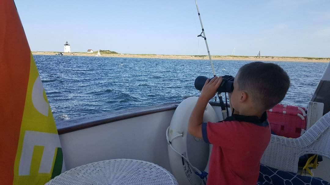 Little sailors enjoying the view