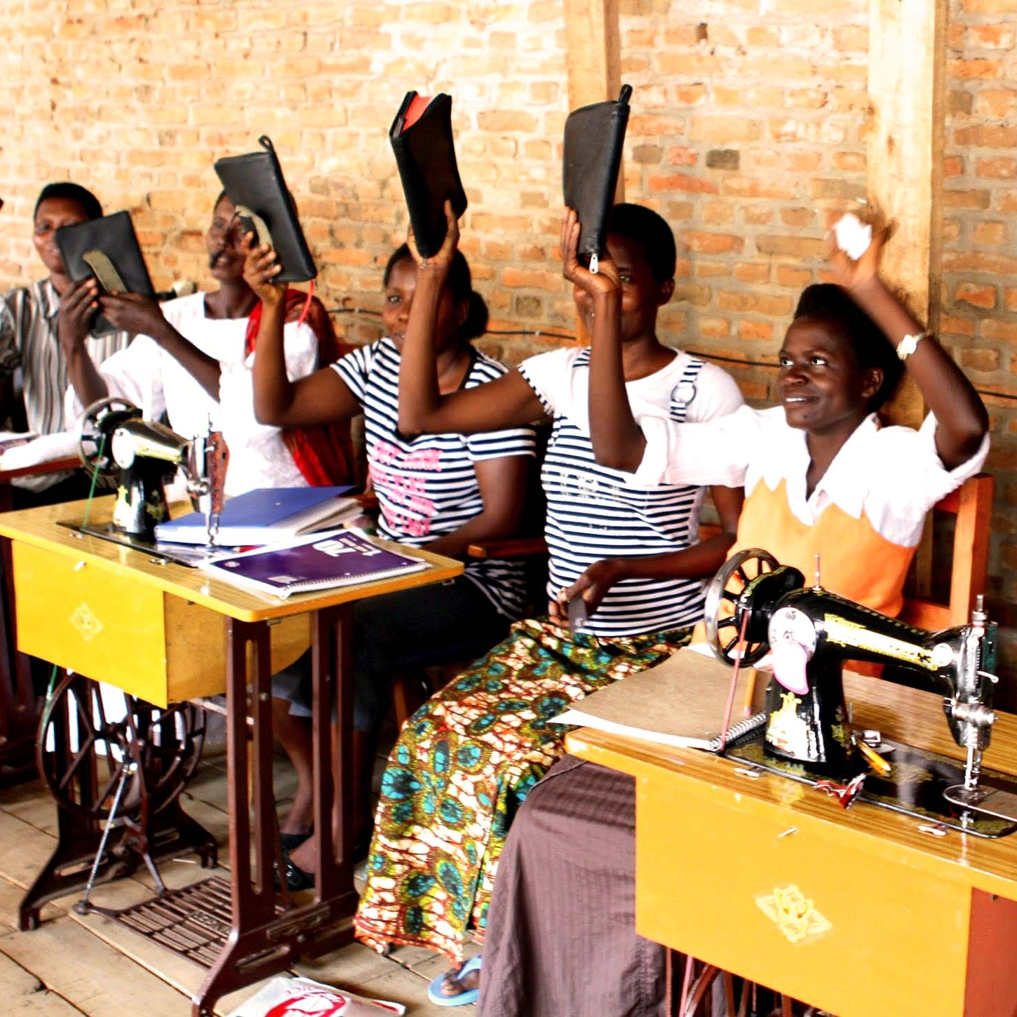 We are developing entrepreneurial women through a sewing school, giving them the opportunity to create their own business.