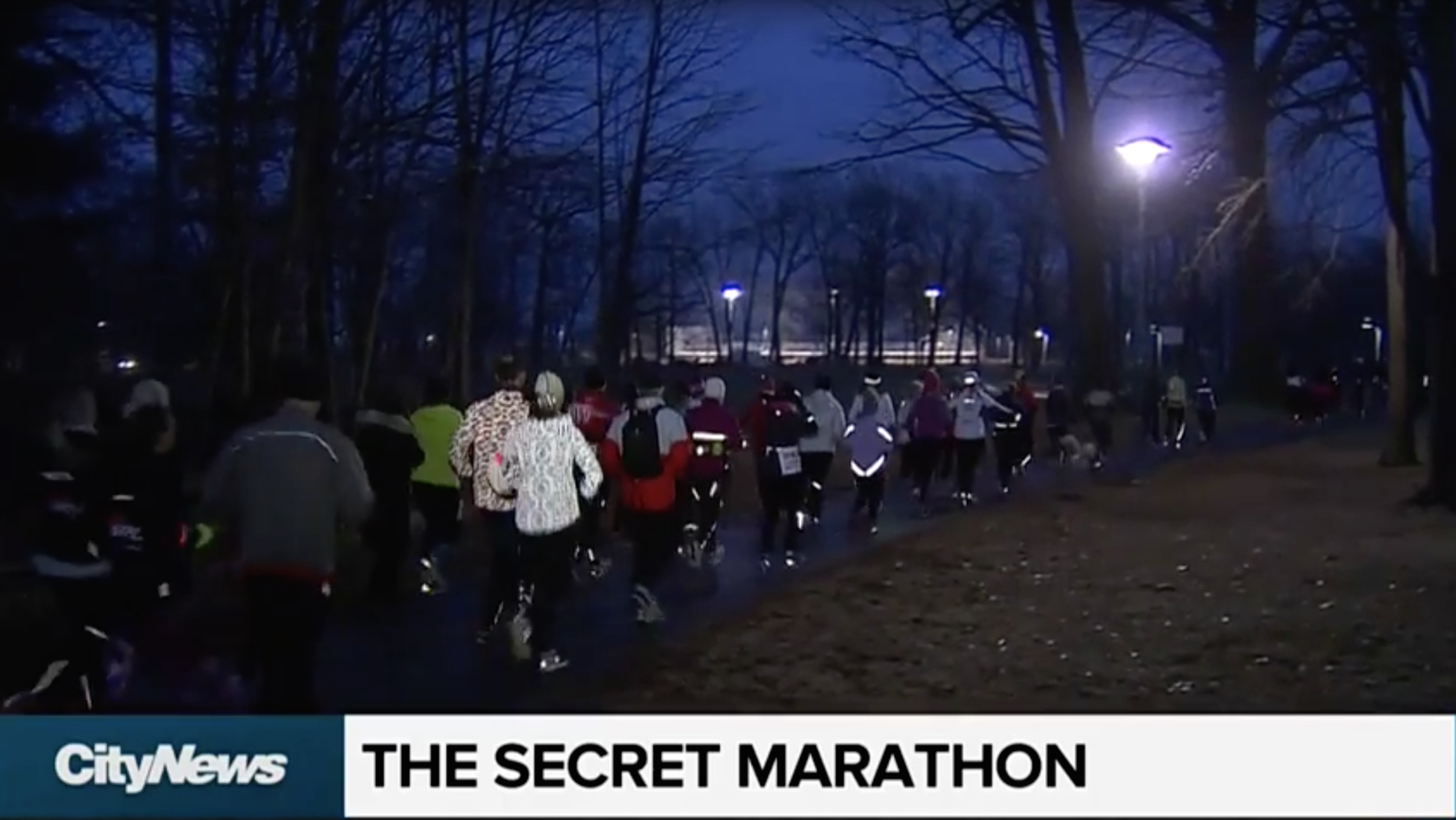 CITY TV News: The Secret Marathon 3K - Toronto